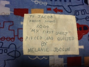 Jacob's First Quilt
