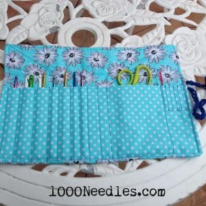 Crochet Hook Case Open with the hooks in