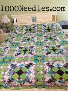 Easy Street All blocks pieced together no border and not yet quilted