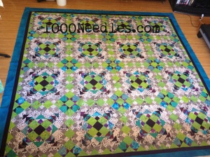 Easy Street Completed Quilt Top! with borders