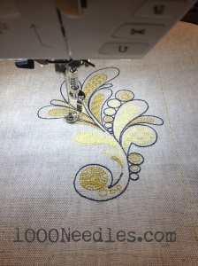Loving the embroidery machine!
