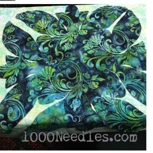 Hawaiian Quilt Making Before applique