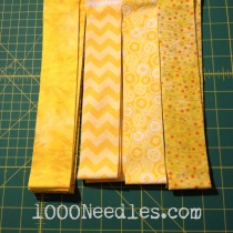 "Celtic Solstice - Step 3 Yellow 2"" Strips 12/15/13"