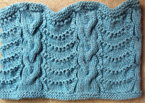 Cabled Lace Cowl from Stephanie Japel
