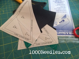 Moon Glow Block 6 Step 2 - Foundation Piecing - sew July 26, 2014