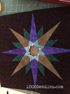 Moon Glow  Step  Pieced Star without borders and center
