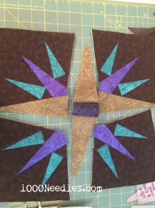 Moon Glow Block 8 putting the pieces together