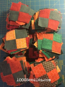 Celtic Solstice - Step 4 4 Patches  100 assembled  the rest waiting for me