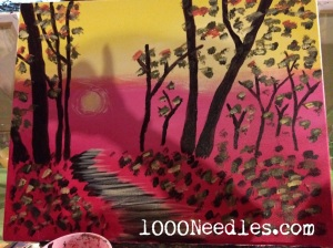 Paint Nite August 27, 2014 Burbank's Bar and Grille