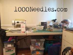 messy sewing table 9/13/14