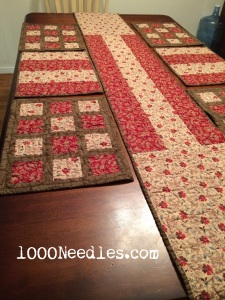 Table Runner and Place Mats - other side 1/12/2015