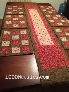 Table Runner and Place Mats 1/12/2015