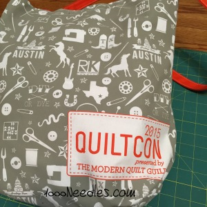 QuiltCon 2015 goodie bag
