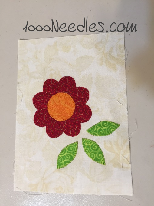 Machine Applique with Annie Smith  Sample 5/10/2015