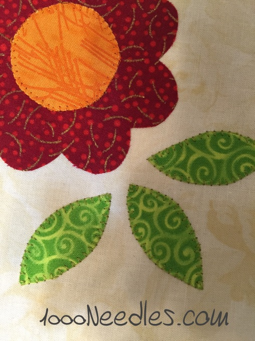 Machine Applique with Annie Smith  Close up of Sample 5/10/2015