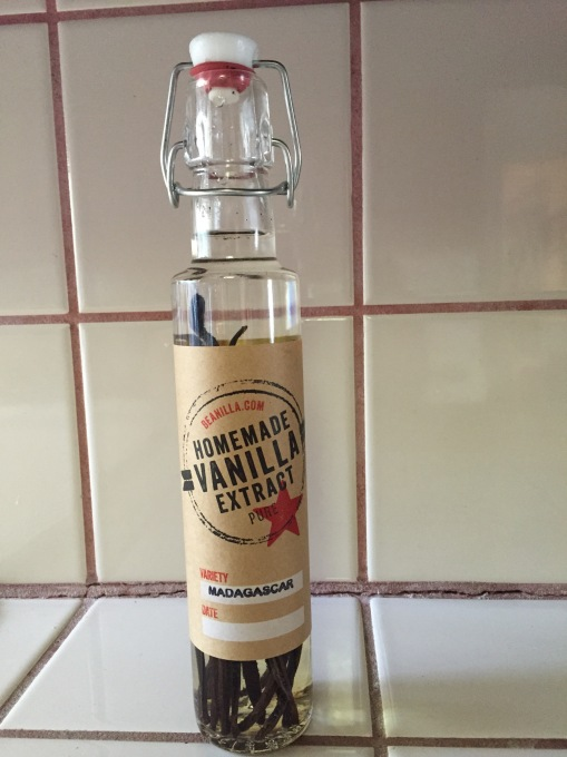 5/30/2015 - Absolut Vodka and 7 vanilla beans that came with the kit