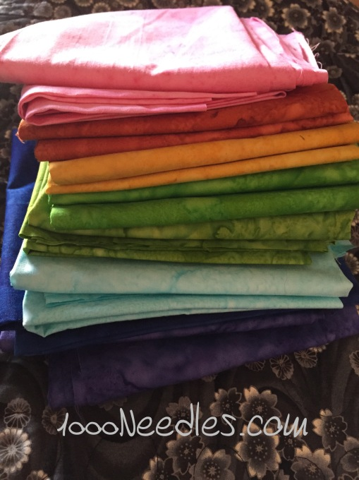 Fat Quarter Haul from  So Cal Quilt Run 2015 6/21/2015