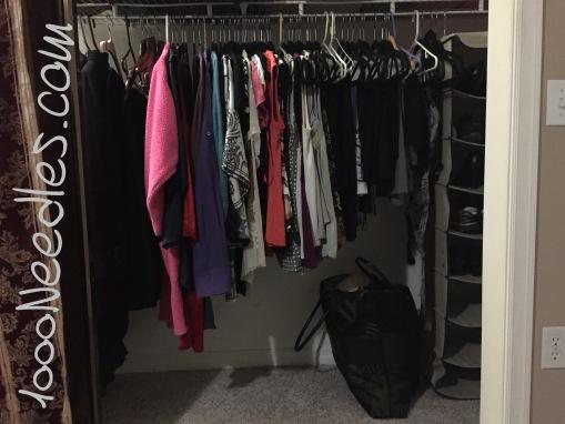 My closet simplified 10/7/15