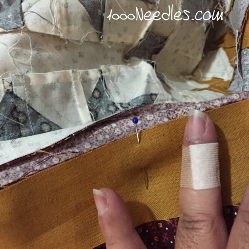 cut my finger while trimming dog ears.  :( 11/3/2015
