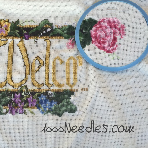 Cross Stitch Welcome Project 11/29/2015