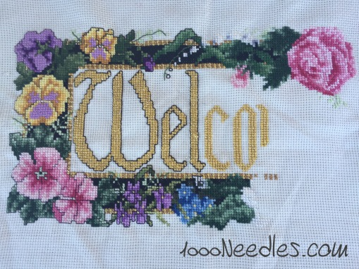 Welcome Project Cross Stitch 12/6/2015