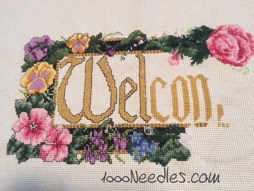 Cross Stitch Project Welcome 12/19/15