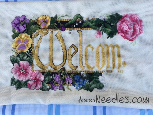 Cross Stitch Welcome Project 12/20/2015