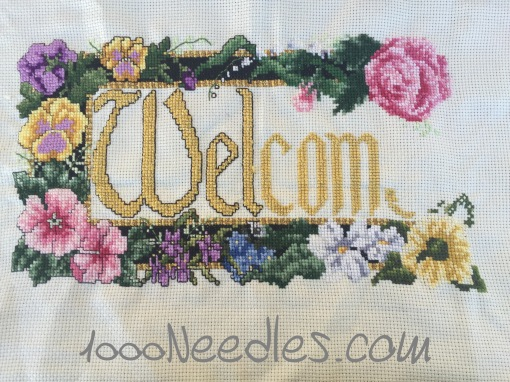 Cross Stitch Welcome Project 2/16/2016