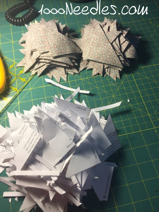 And once I had all the triangles cut, I removed the paper.
