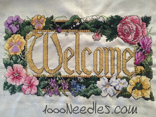Welcome project Cross Stitch 6/12/2016
