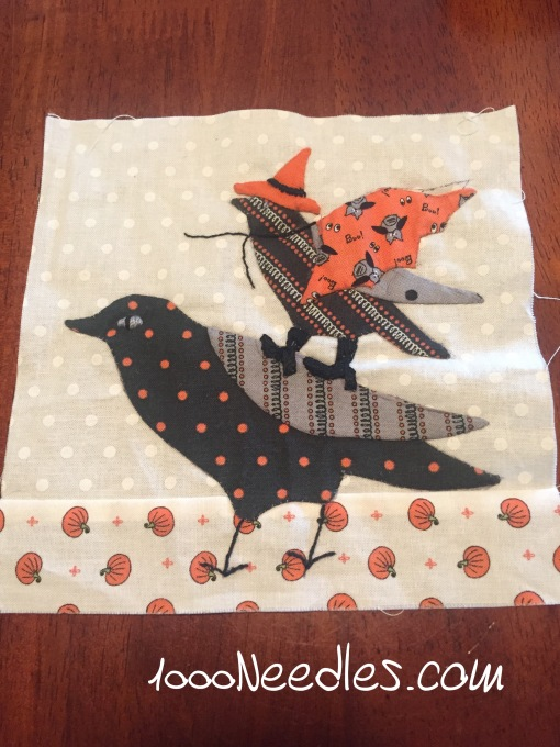 Spooky Halloween Row 1, Block 4 finished! 7/18/2016