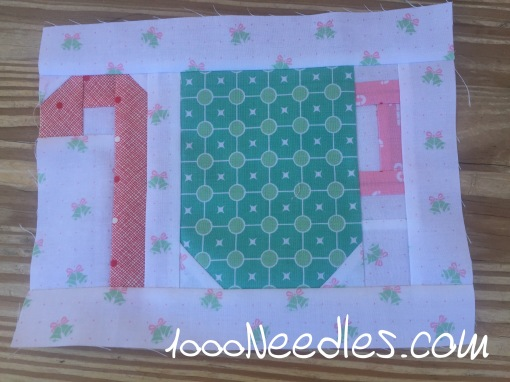 Have Yourself a Quilty Little Christmas! Month 1 - Block 2 7/20/16