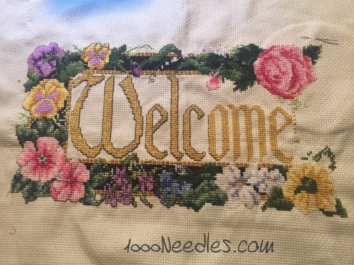 Welcome  Cross Stitch Project 3/10/2016