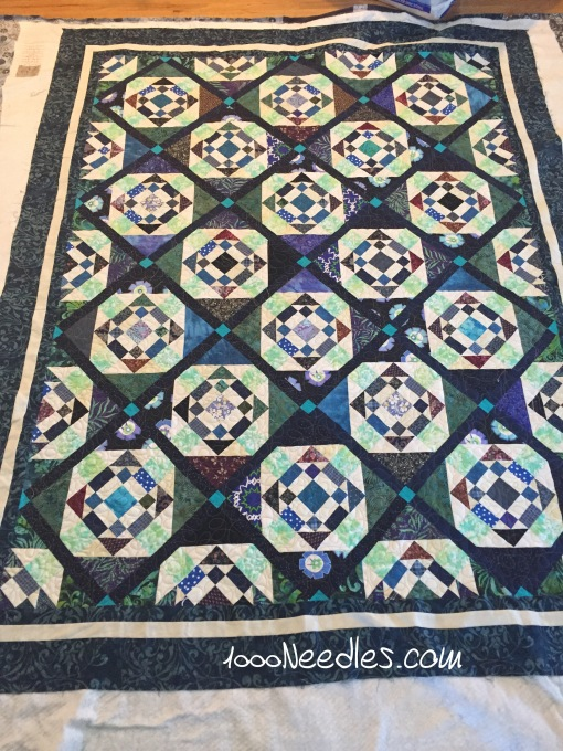 Scrapitude 2015 the inner part is all quilted 3/10/2016