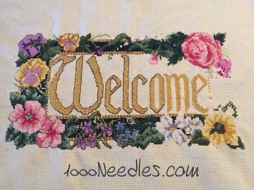 Cross Stitch Welcome Project 3/17/2016