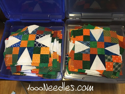 Celtic Solstice Block A Pile on the left are pressed blocks Pile on the right are unpressed blocks AND left pile > right pile! woohoo 3/21/2016