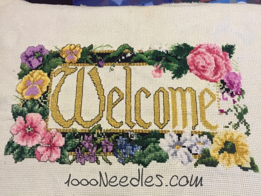Welcome Cross Stitch Project 3/24/2016