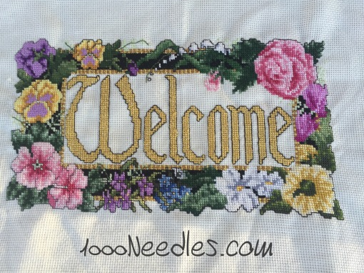 Welcome project Cross Stitch 4/21/2016