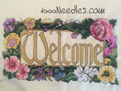 Welcome project Cross Stitch 5/12/2016