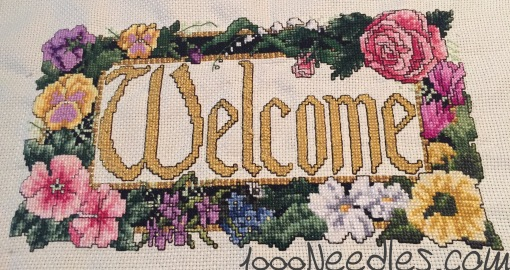 Welcome project Cross Stitch 5/19/2016