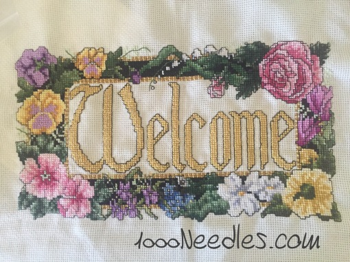 Welcome project Cross Stitch 5/26/2016