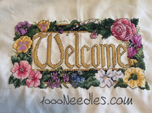 Welcome project Cross Stitch 5/31/2016