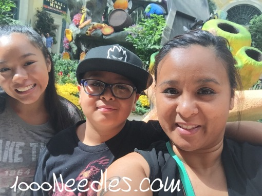 Me and the kids at the conservatory at the Bellagio. 8.3.16