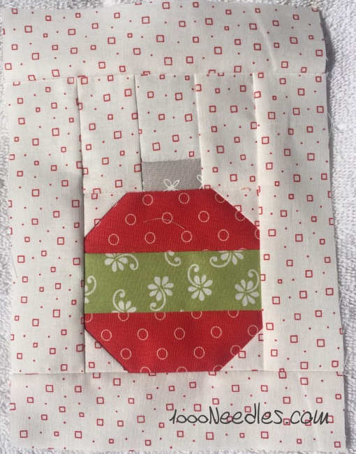 Have yourself a little quilty Christmas! August kit - Block 1 8/17/2016