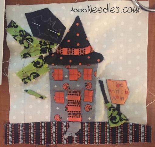 Spooky Halloween Row 2, Block 1 ...still in progress... 9/5/16