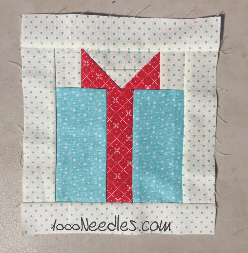 Have yourself a quilty little Christmas! September Kit Block 3 10/5/2016