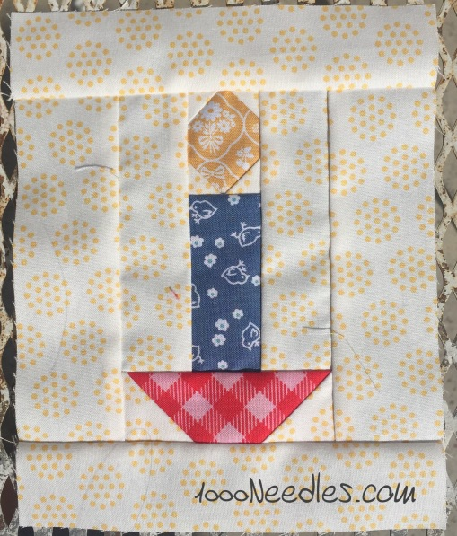 Have yourself a quilty little Christmas! October Kit Block 1 10/18/2016