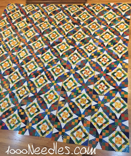 Celtic Solstice The sides and bottoms are all done and here it is with all the blocks laid down. 11/28/2016