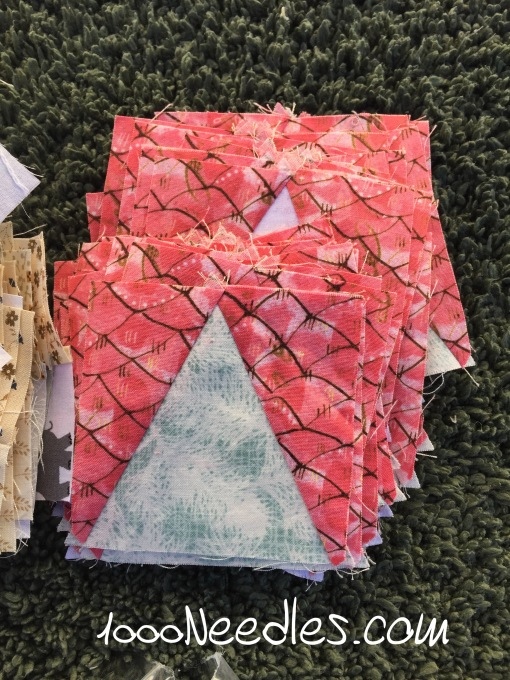 Bonnie Hunter's mystery quilt En Provence Clue #2 - in progress 12/5/2016