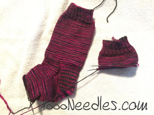 magenta/gray socks 1/24/17